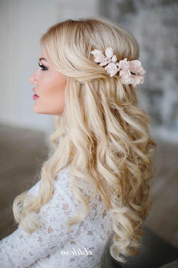 Peinados de novia para pelo largo 2017 novias y bodas - Peinados de semirecogido ...