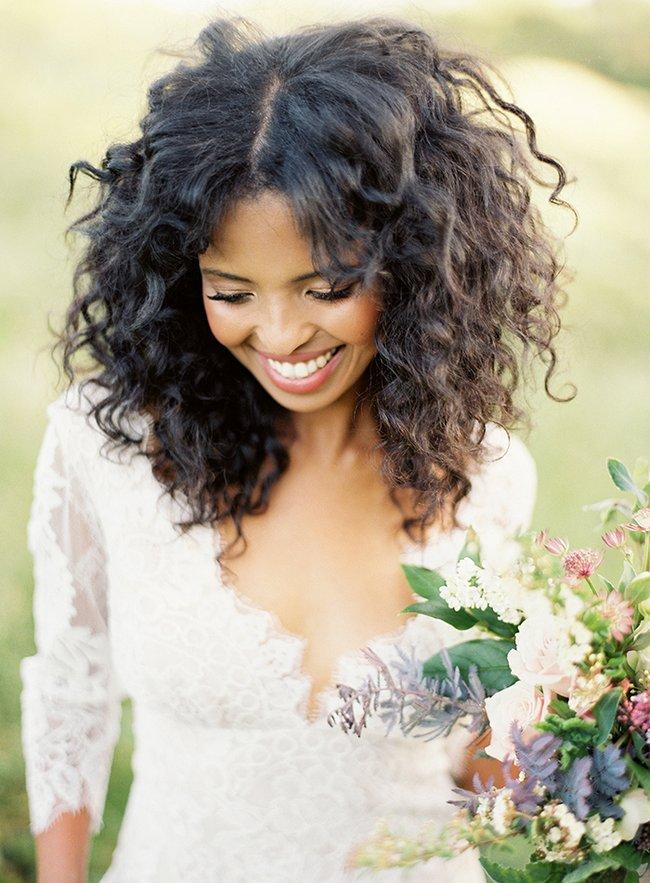 Hermoso peinados pelo largo rizado Fotos de cortes de pelo Ideas - Peinados de novia con pelo rizado 2019 | Novias y Bodas