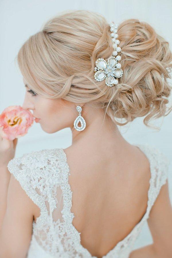 Peinados para novia cabello largo recogido