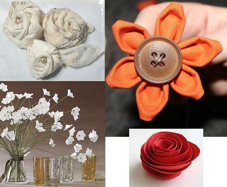 Cómo hacer flores de tela o papel