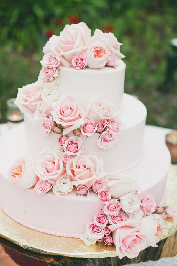 Pasteles de boda 2018 de 130 fotos y tendencias Novias y Bodas
