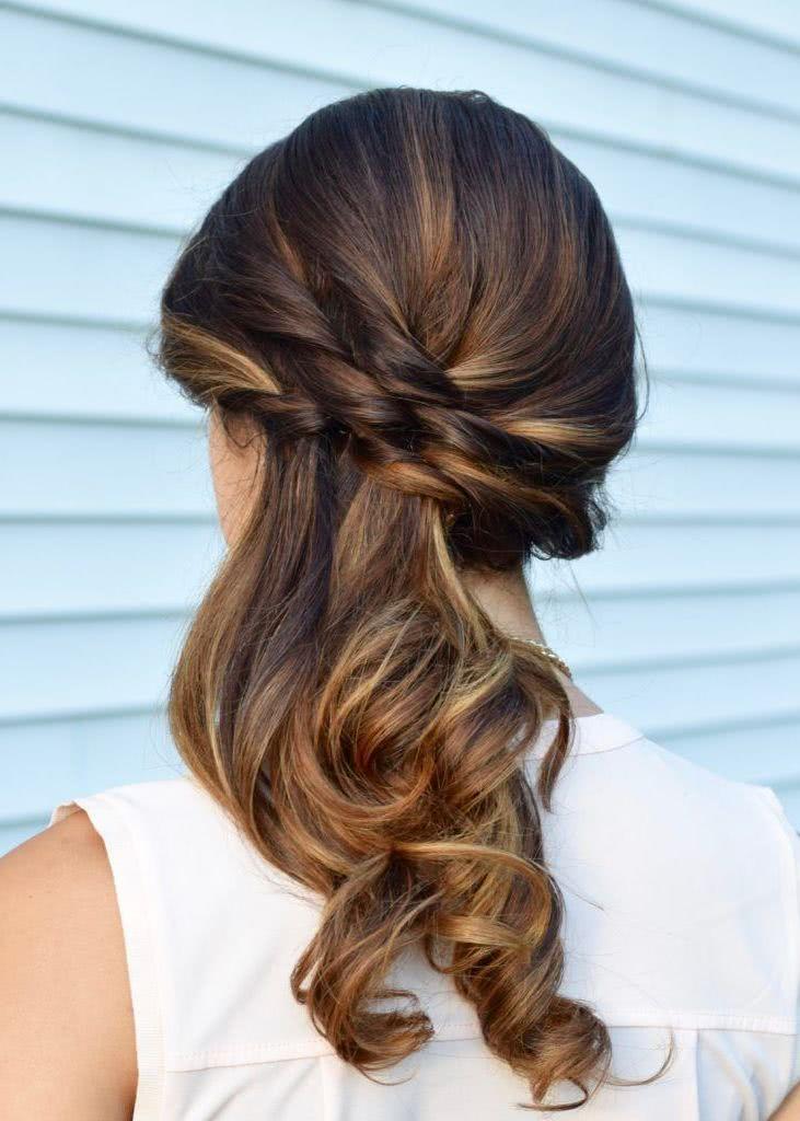 Peinados para bodas 2018 tendencias y 70 fotos novias y for Imagenes semirecogidos