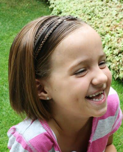 Peinados para ninas con cabello super corto