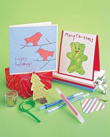 Tarjetas artesanales de Navidad