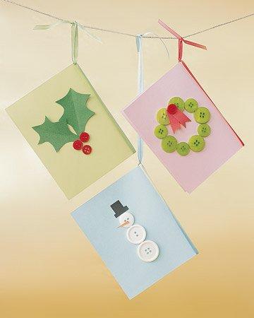 Tarjetas artesanales de navidad 5 ideas para ni os - Postales navidenas creativas ...
