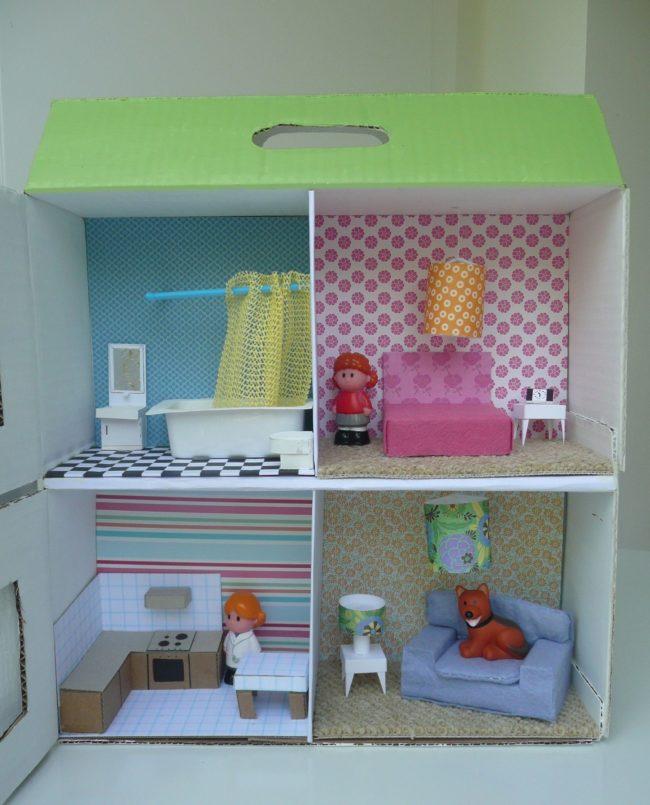 C mo hacer una casita de cart n paso a paso nuestros hijos Casas hechas de carton