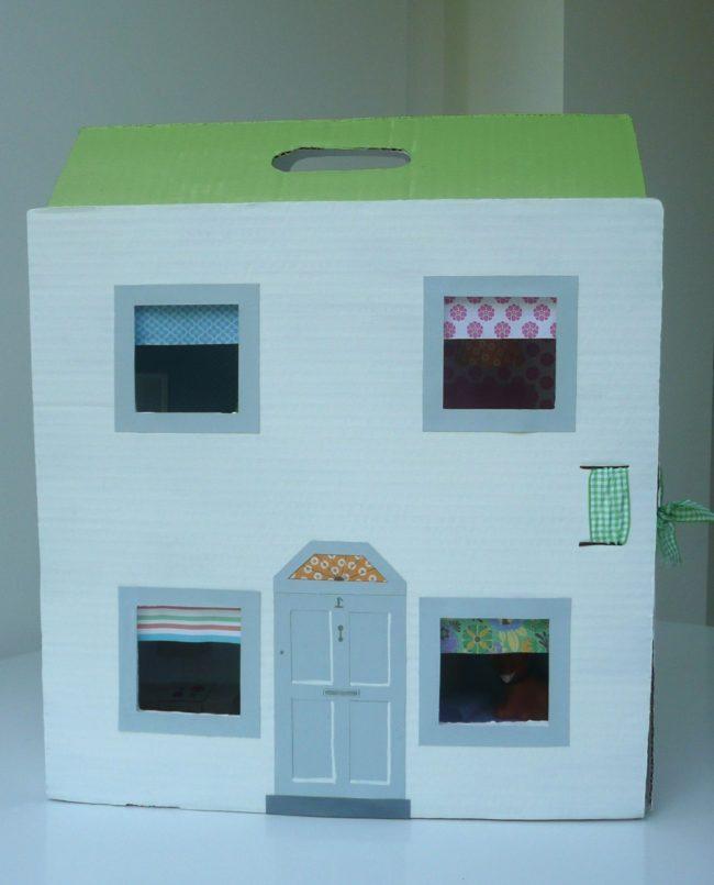 C mo hacer una casita de cart n paso a paso nuestros hijos - Como hacer una casa de carton pequena ...