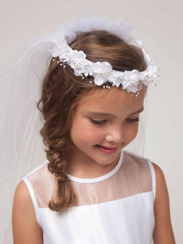 Peinados para niñas con flores