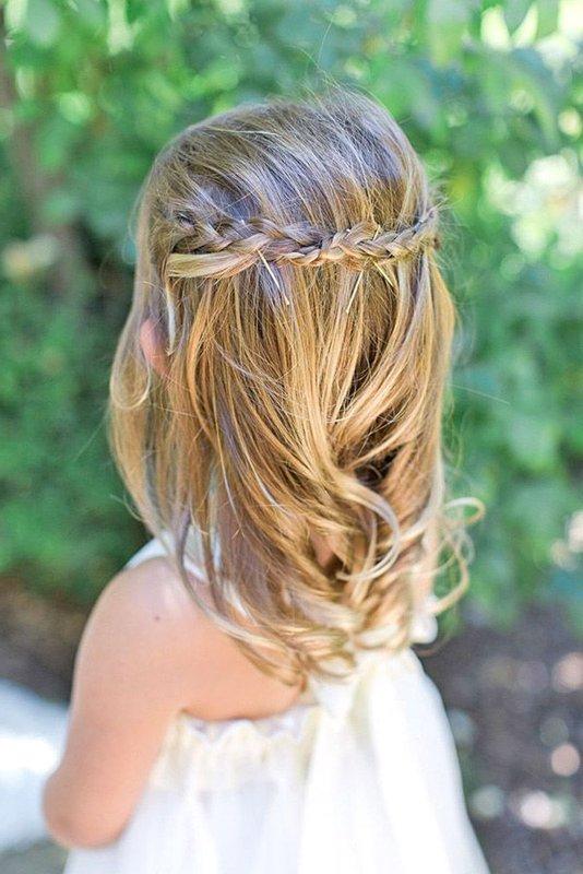 Peinados para ni as de fiesta ceremonia o bodas 70 fotos for Imagenes semirecogidos