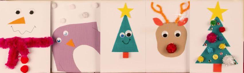 Dibujos Para Hacer Felicitaciones De Navidad.Tarjetas Artesanales De Navidad 5 Ideas Para Ninos
