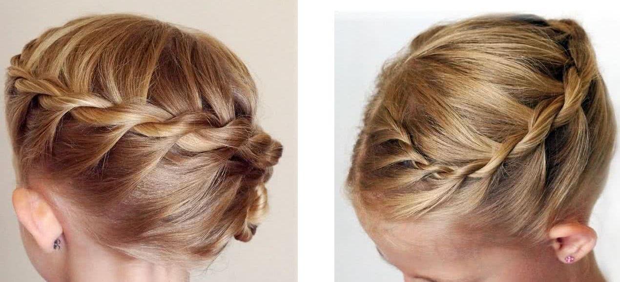 Peinados para fiesta pelo corto recogido