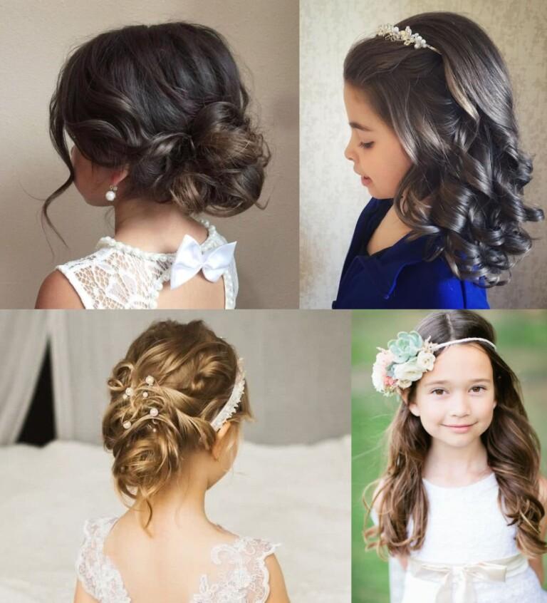 Peinados para niñas fiesta ceremonia bodas