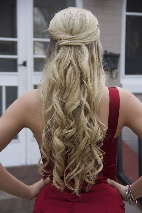 HD wallpapers homecoming hairstyles curly half up