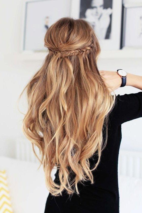 Peinados para cabello medio recogido