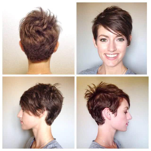 las mujeres en la moda actual cada vez son ms osadas y juegan con estilos que antes eran impensados por lo que los cortes de cabello corto cada vez se - Pelados Cortos Mujer