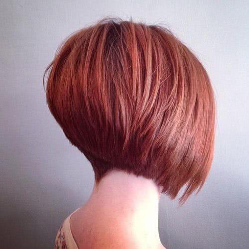 Cortes de cabello corto vistos desde atras