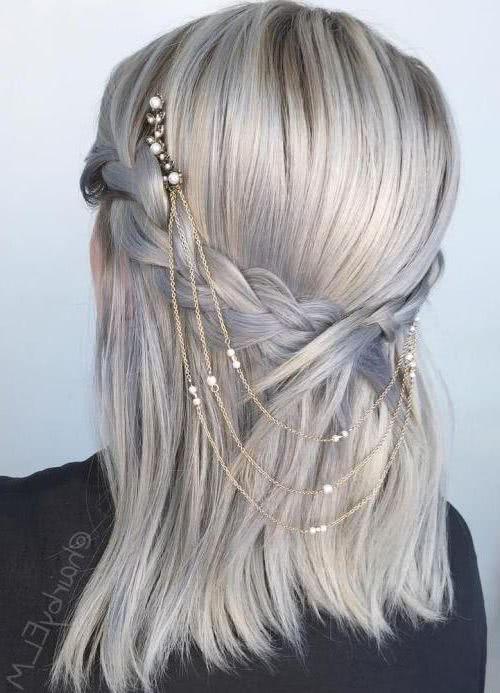 Peinados con trenzas para fiestas pelo suelto