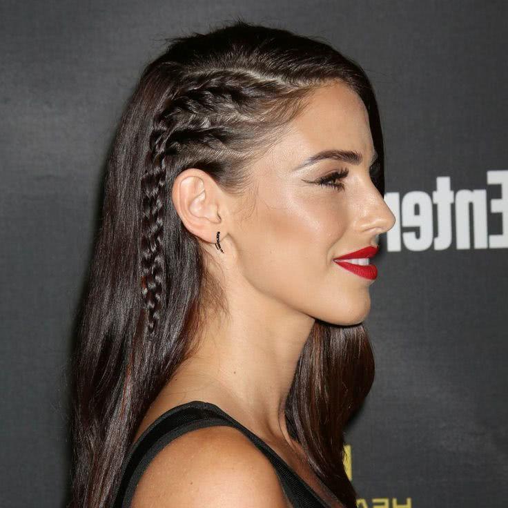 Peinados Con Cabello Suelto 2019 2018 Cafe Versatil - Peinados-con-trenzas-a-un-lado