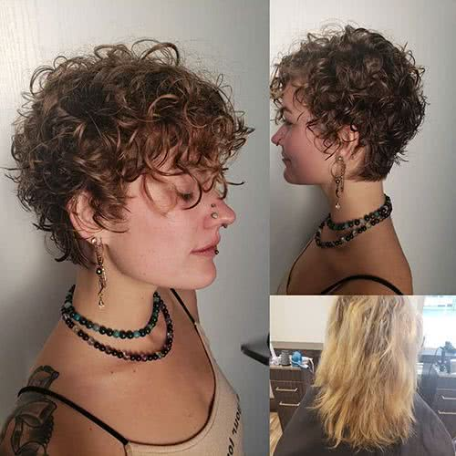 Pelo Rizado Corte De Pelo Corto 2020 Mujer Peinados Originales